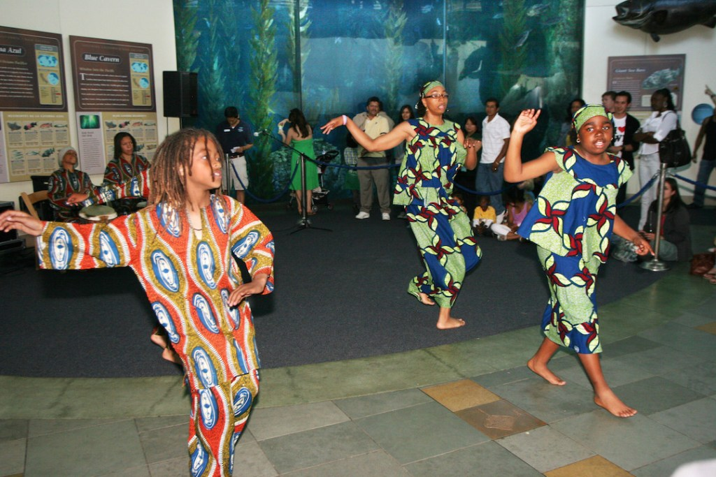 Family fun at the African-American festival at the Aquarium of the Pacific