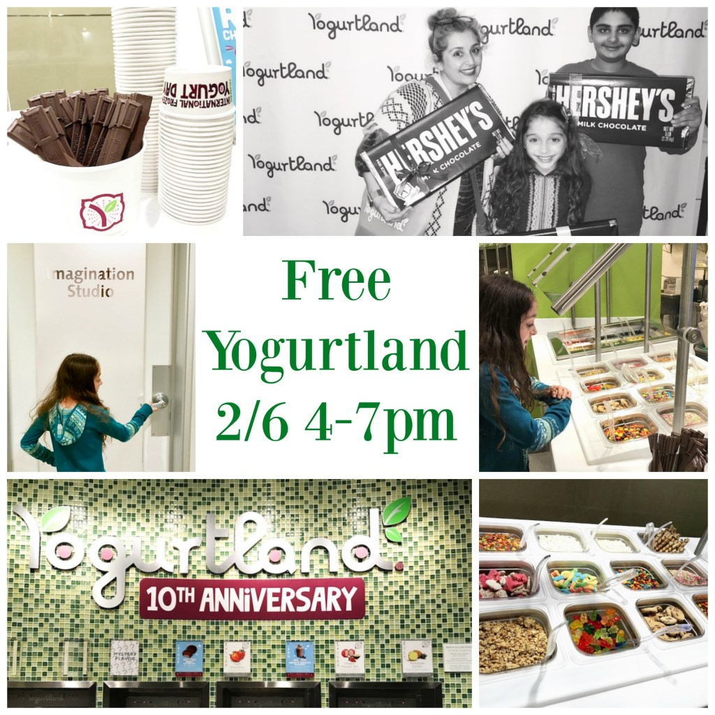 Free Yogurtland on February 6th from 4-7pm