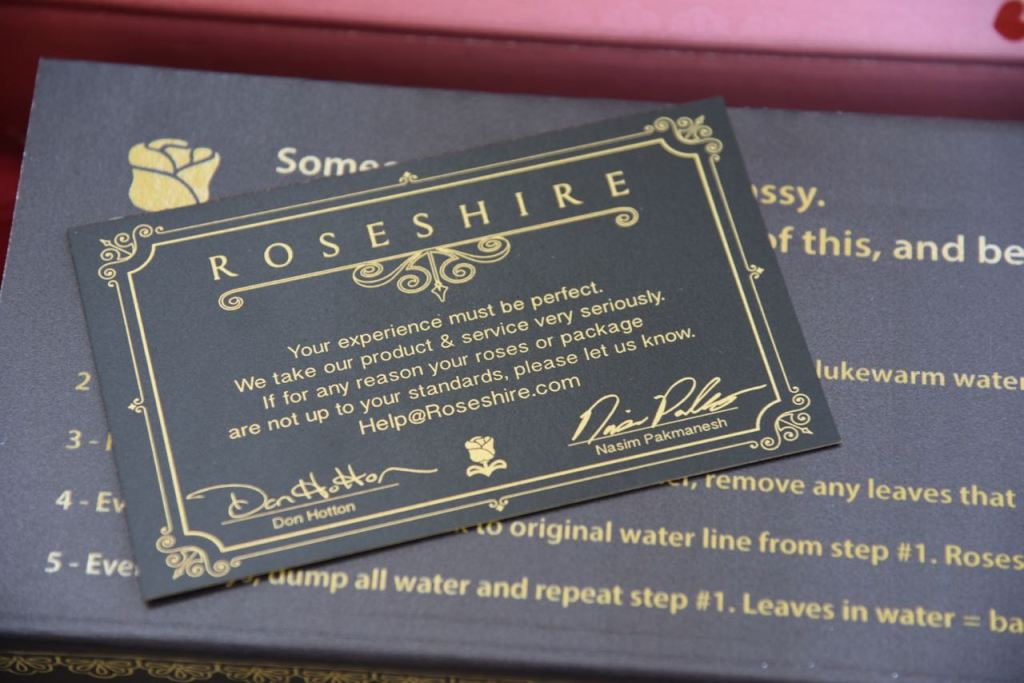 Give the gift of Roseshire Roses