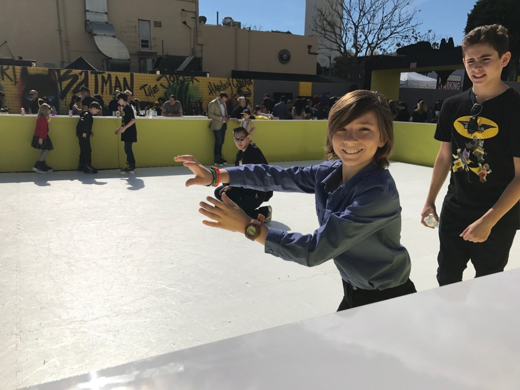 Ice Skating fun at The Lego Batman Movie Premiere