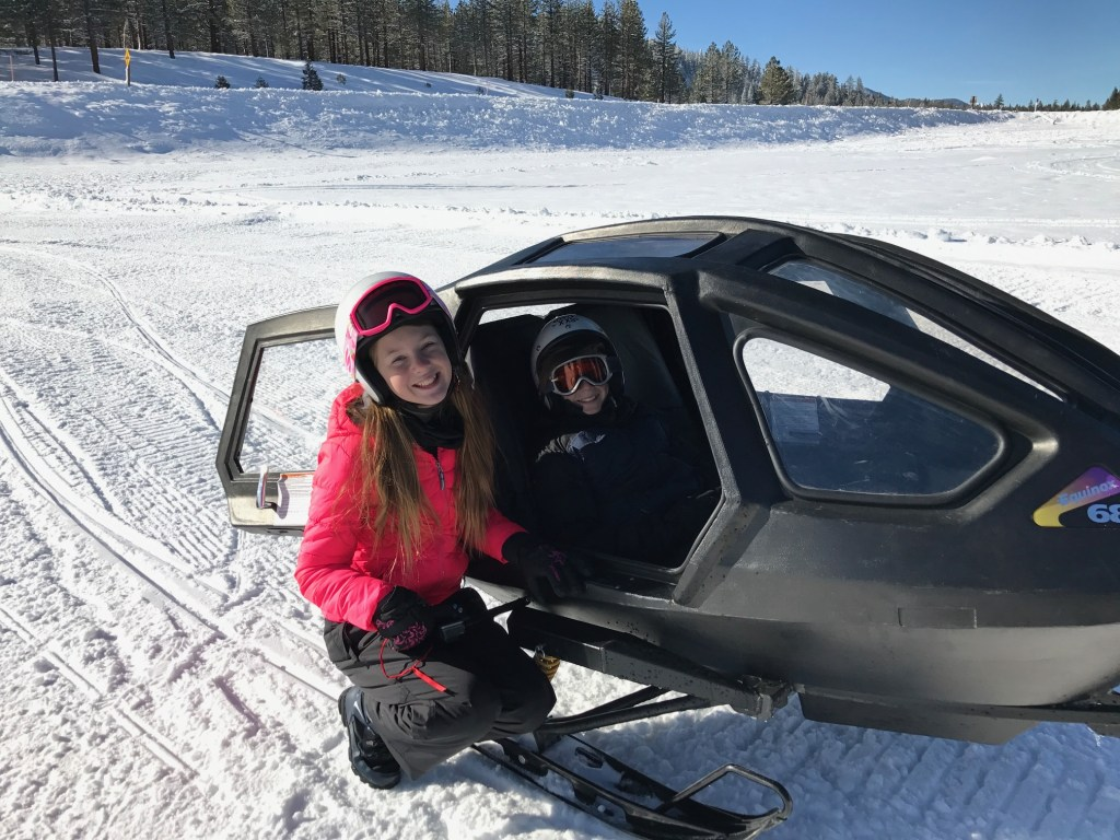 Snowmobile Chariot for younger children