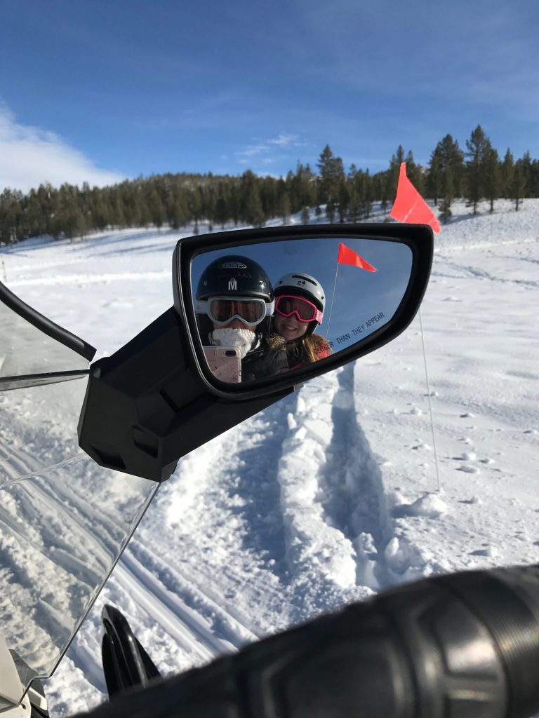 Snowmobile Mirror Selfie