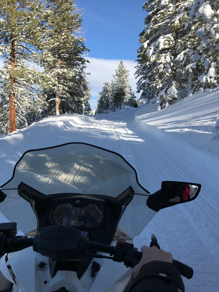 Snowmobile Riding in June Lake