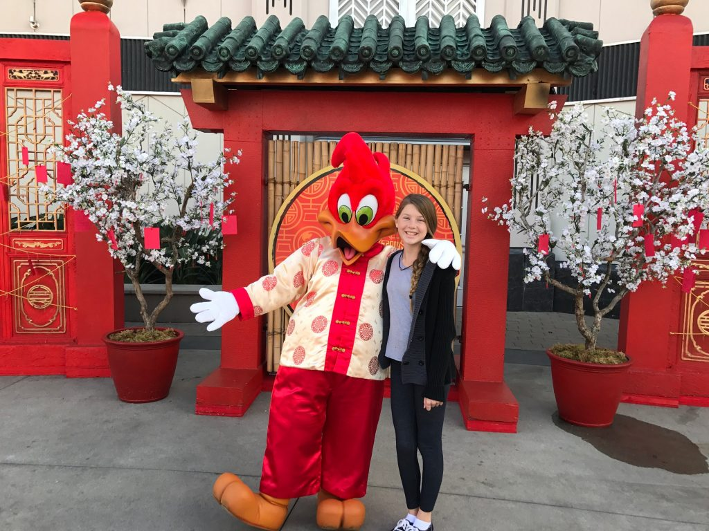 Woody the Woodpecker at Universal Studios Hollywood Lunar New Year Celebration