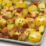 Shrimp Broil Sheet Pan Recipe