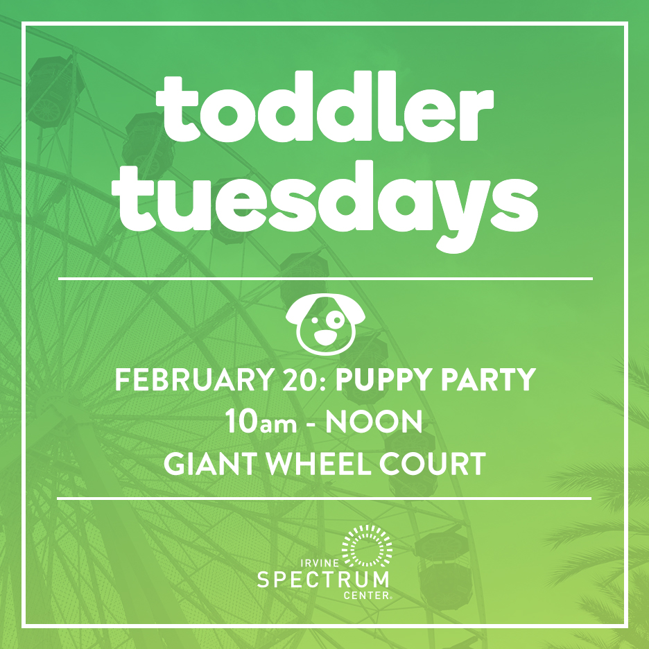You\'re Invited: Toddler Tuesdays Puppy Party | OC Mom Blog
