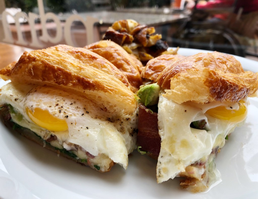 Fried Egg Sandwich at Pain du Monde in Fashion Island