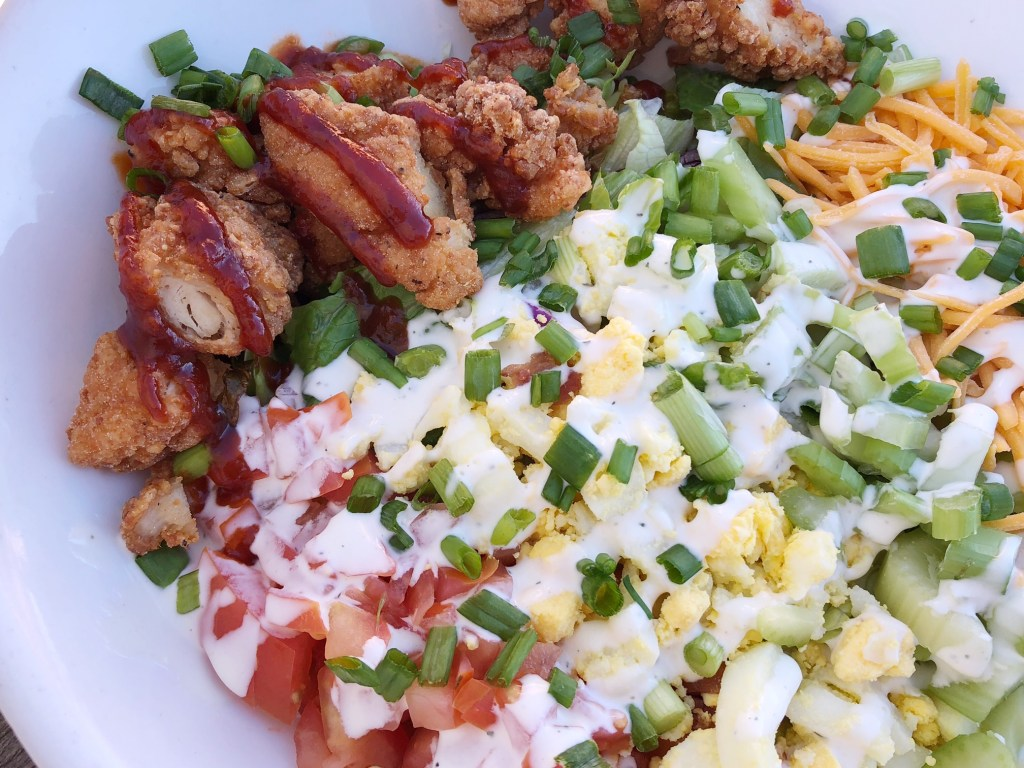 Buffalo Chicken Salad at The Lakefront Tap Room Bar and Kitchen in Lake Arrowhead