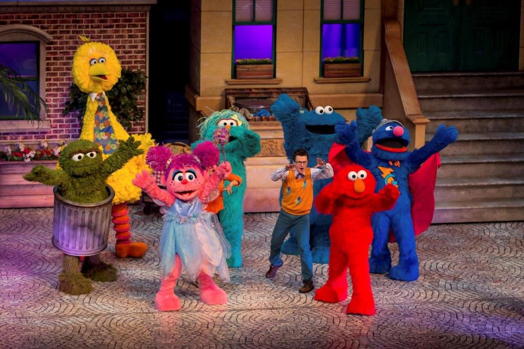 All your favorite Sesame Street Characters in Sesame Street Live! Let's Party!