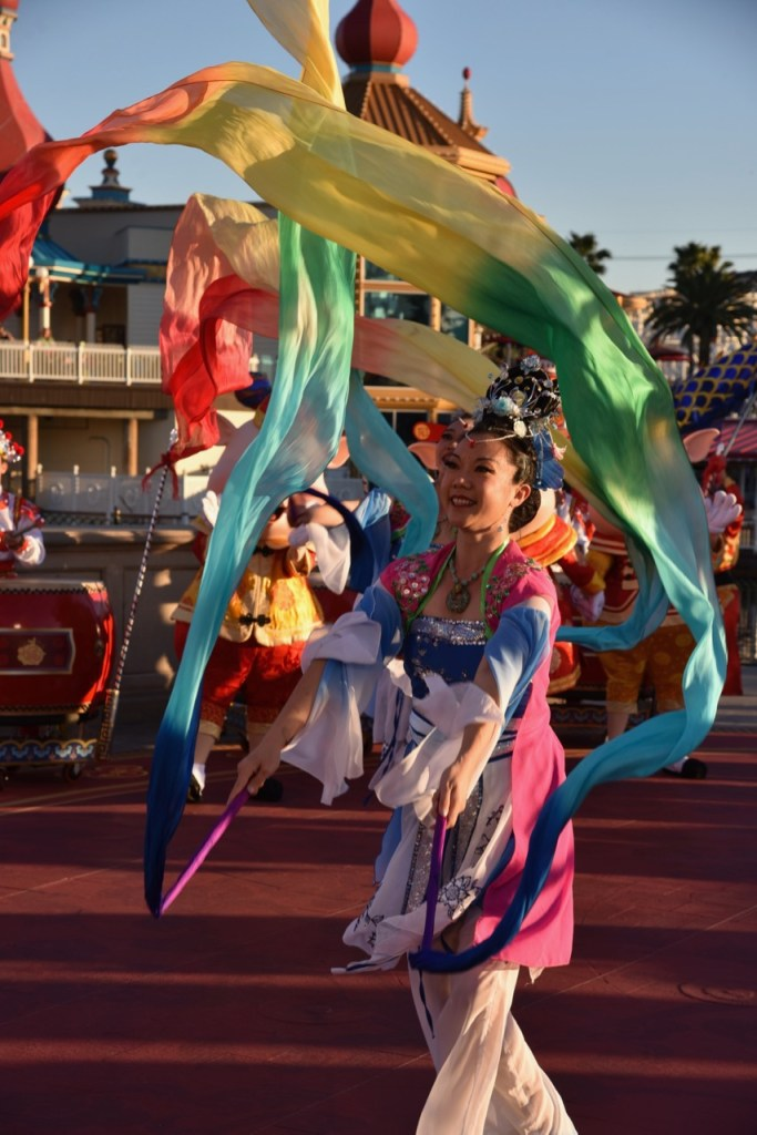 Beautiful Dancers in Mulan's Lunar New Year Procession