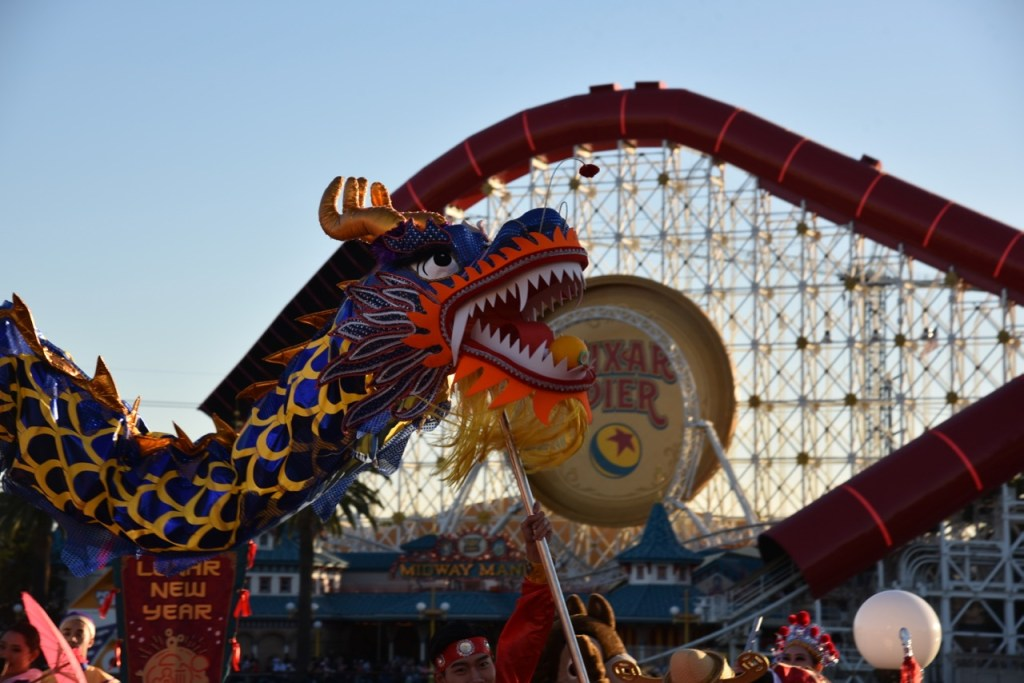 Chinese Dragon Dance at Disney California Adventure Park