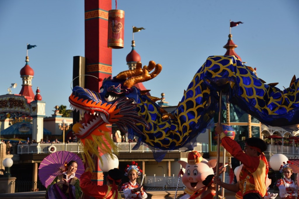 Chinese Dragon in Mulan's Lunar New Year Procession