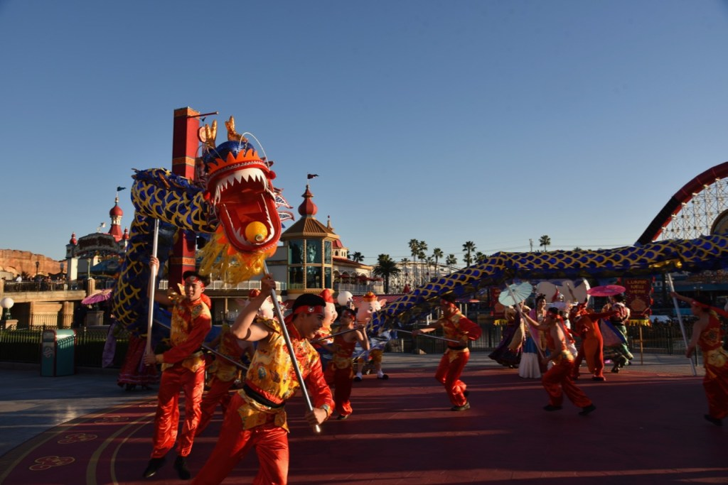 Dancing dragon in Mulan's Lunar New Year Procession