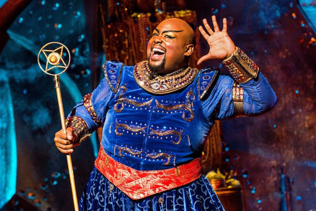 Genie in Disney's Aladdin at the Segerstrom Center for the Arts