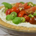 Kiwi Berries and Heirloom Tomato Tart with Basil and Ricotta
