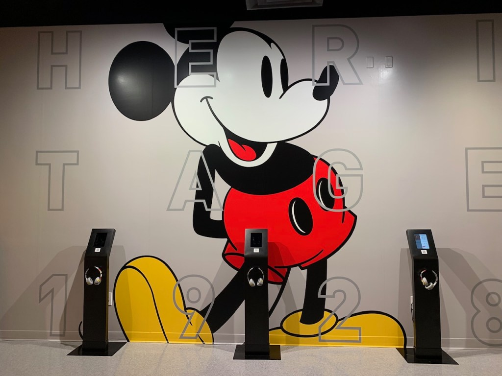 Waiting room at the Pop-Up Disney! A Mickey Celebration