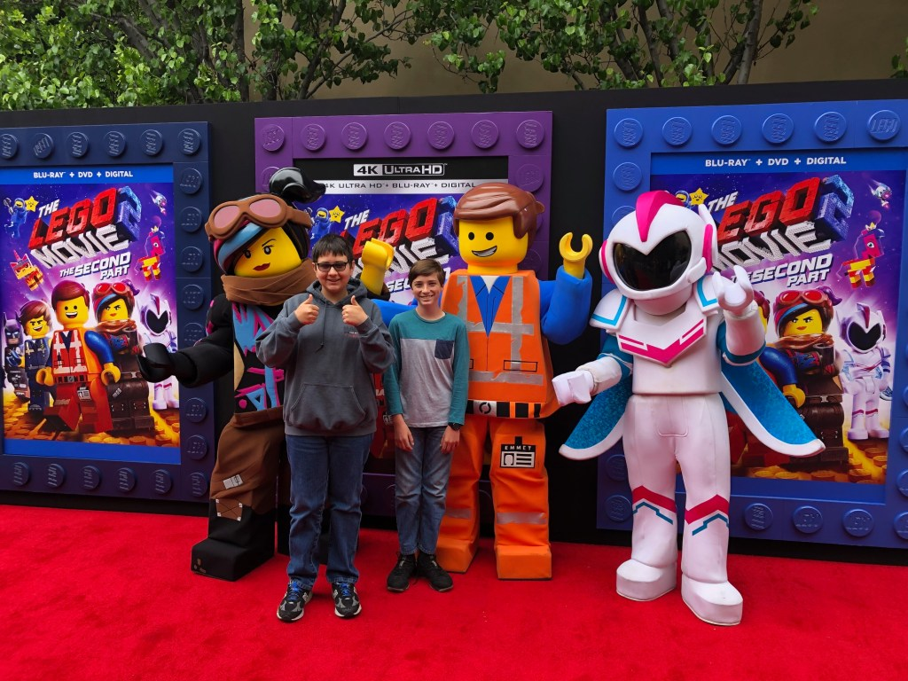 Boys at the Lego Movie 2- The Second Part premiere