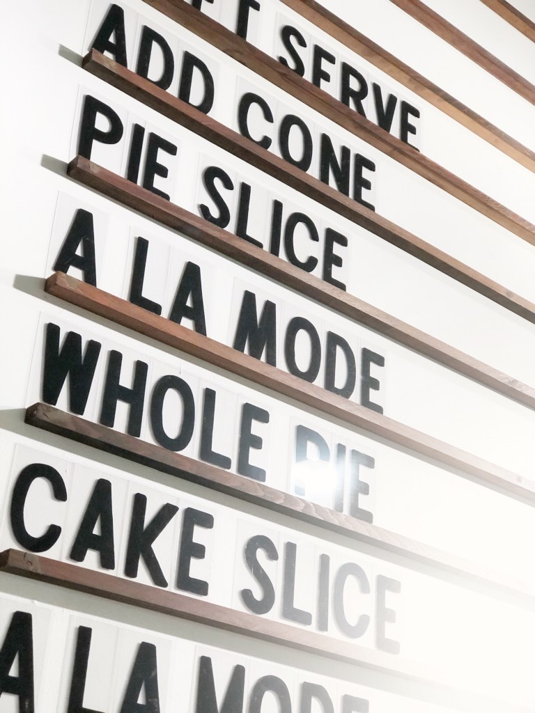 menu at Noble Folk Ice Cream and Pie Bar