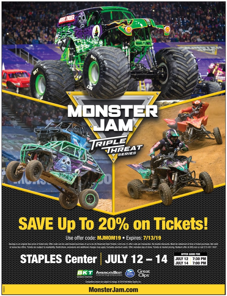 Monster Jam Discount Flyer