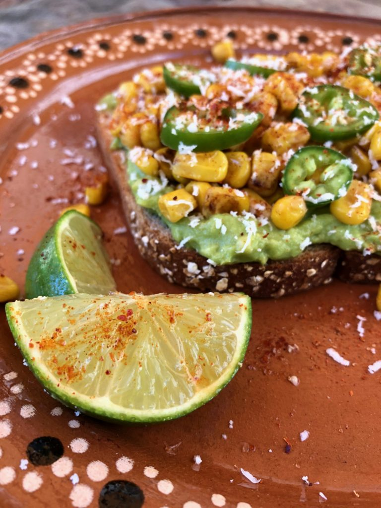 Mexican Street Corn Avocado Toast