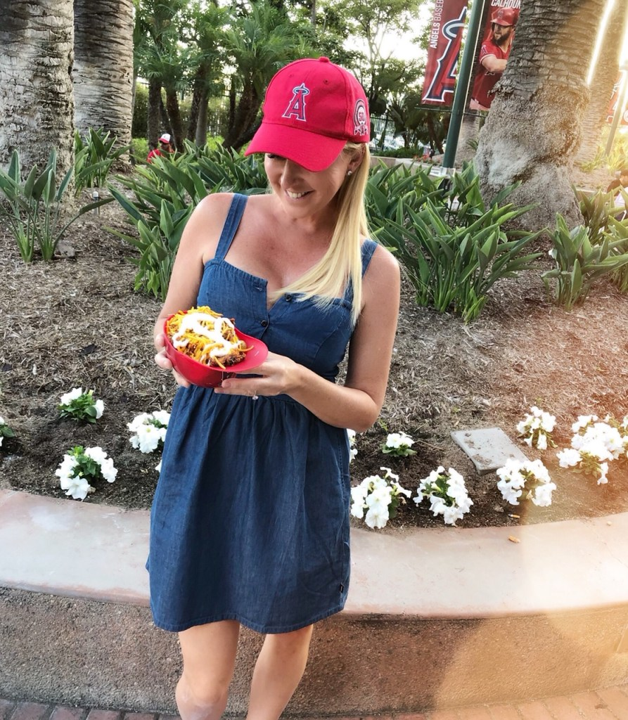 Melissas Produce at an Angels Game