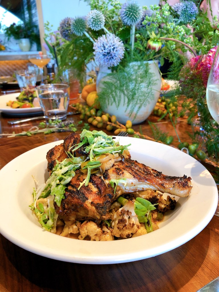 oven roasted chicken at Barrel House Tavern in Sausalito