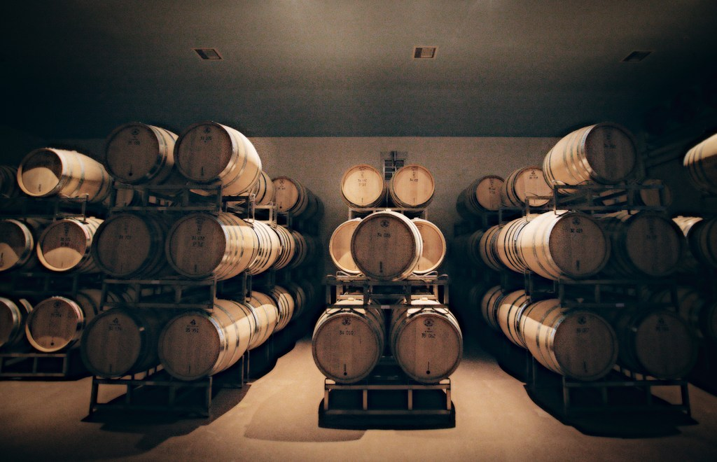 Chardonnay Aging at Peter Michael Winery