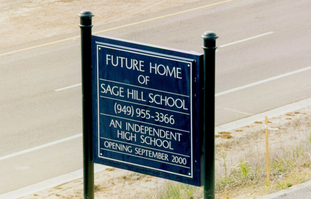 Future Home of Sage Hill Sign