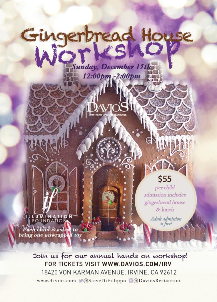 Davio's gingerbread House Event