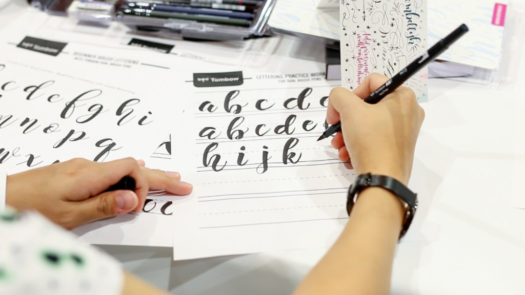 Handlettering Class at PINNERS Crafting & Creating Expo Conference