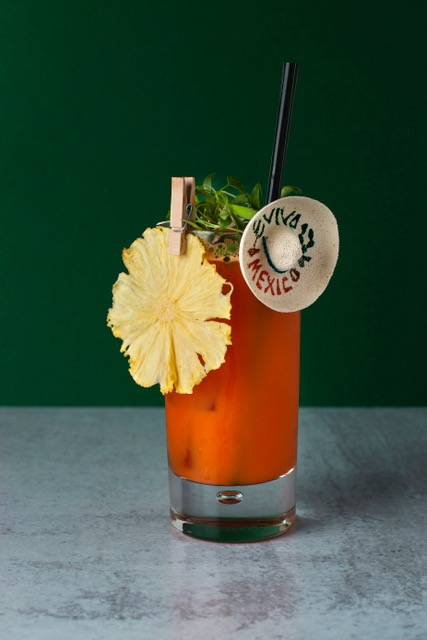 Mexico Themed Craft Cocktail