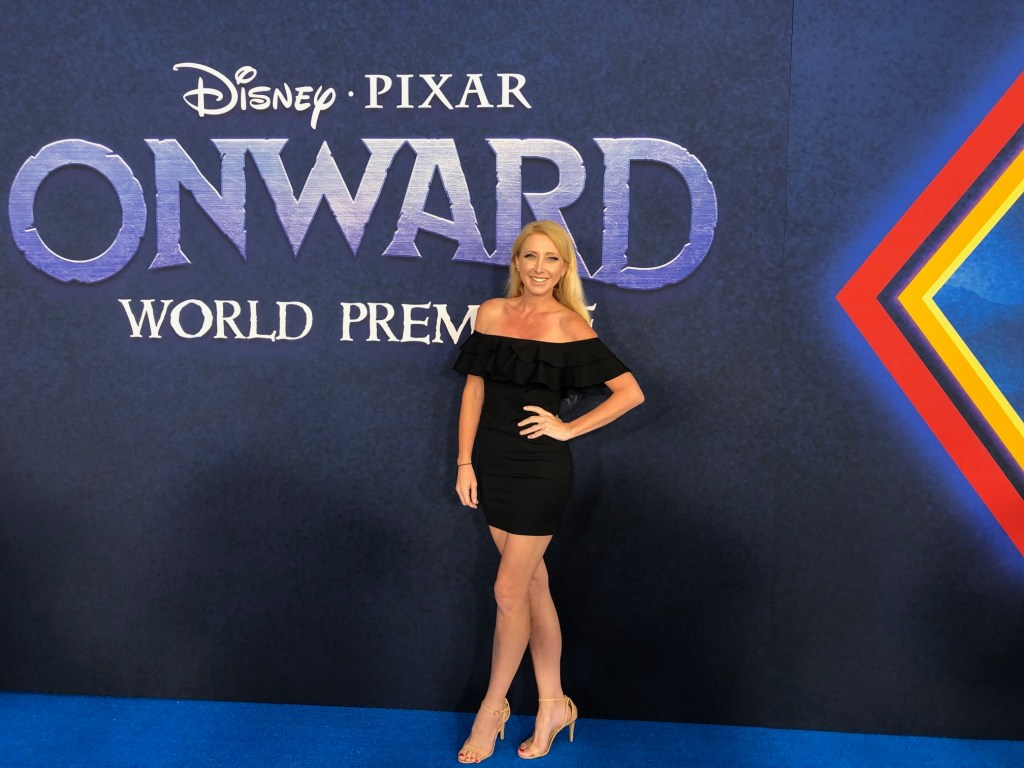 Shelby Barone at the Pixar Onward Premiere