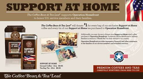 the coffee bean support our troops