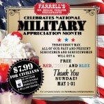 Free Farrell's Sundae to Military on Memorial Day Weekend