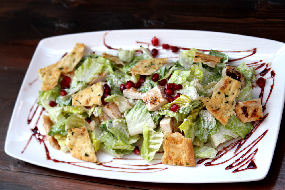 Grilled Chicken Pomegranate Caesar Salad