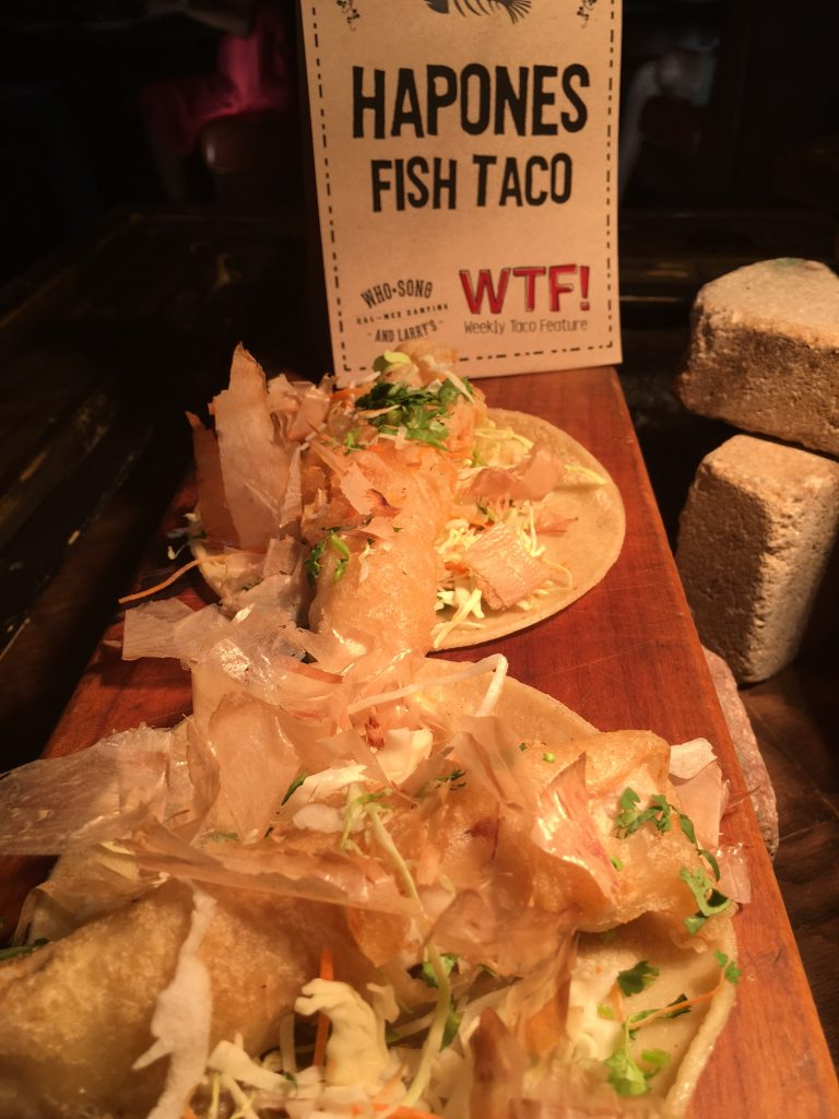 Who Song & Larry's Hapones Fish Taco