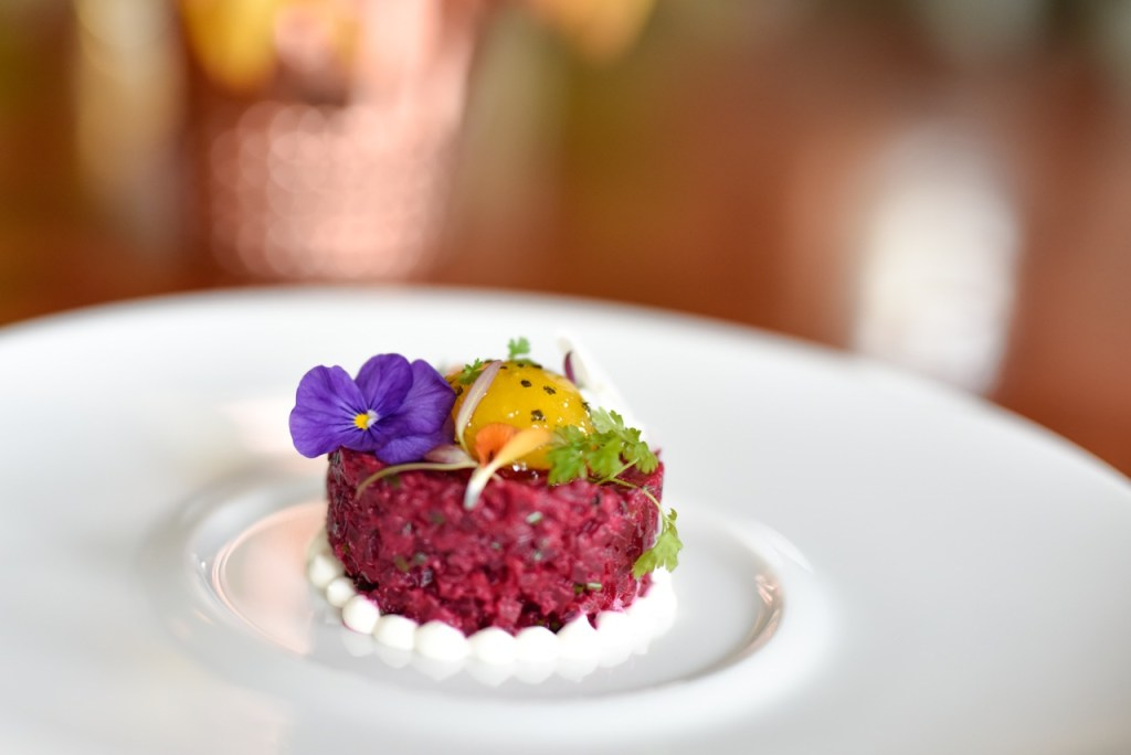 Crimson Beet Tartare at The Montage