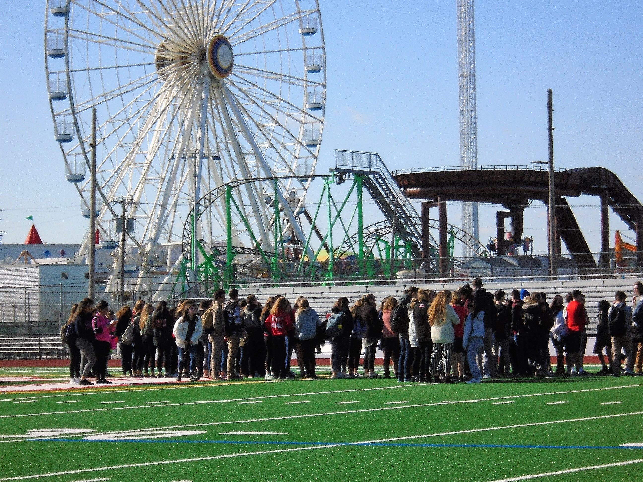 Ocean City High School Students Walk Out For Solidarity In