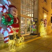 HOliday displays on Asbury Avenue