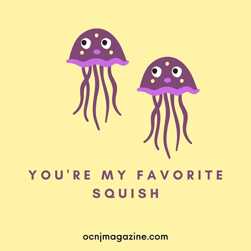 Valentine card jellyfish