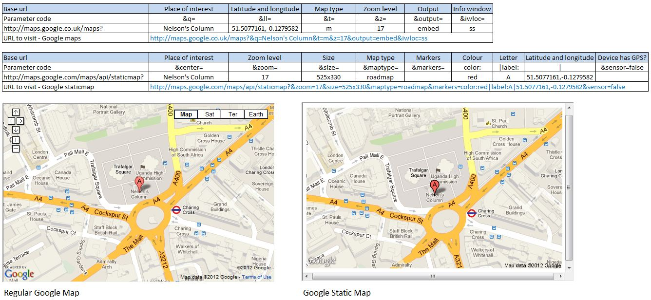 Put a Google map in your spreadsheet - oCoCarbon
