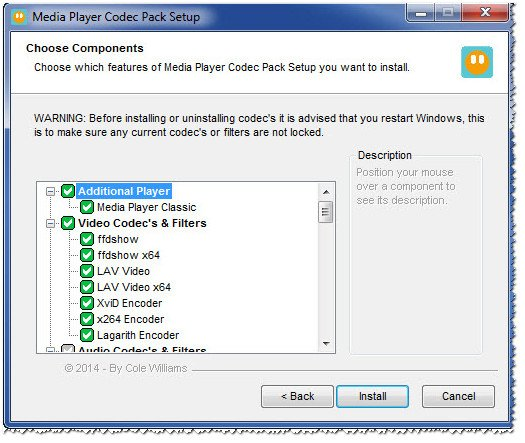 All Codecs For Windows 7 Install Remove Or Update Codecs Is Easy