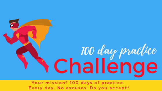 superhero 100 day practice challenge