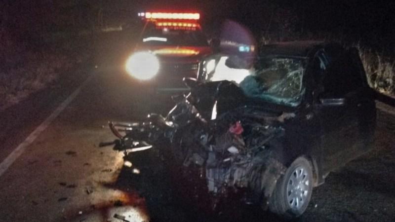 2 homens ficam presos nas ferragens e morrem em colisão entre veículos na TO-050 que liga Palmas a Porto
