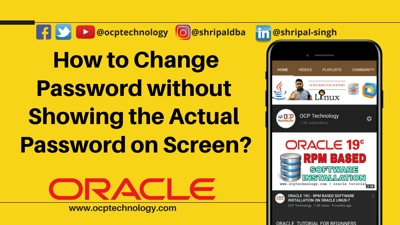 How to Change password without showing the actual password on screen