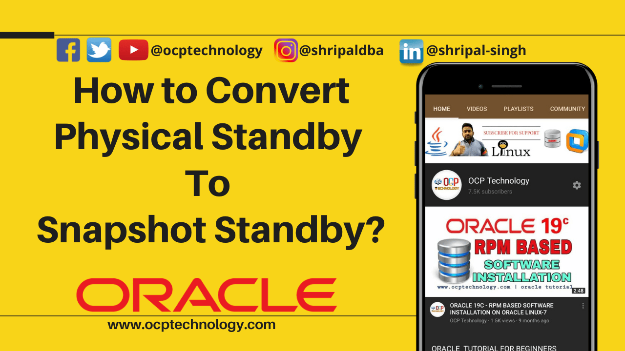 How to Convert Physical Standby To Snapshot Standby?