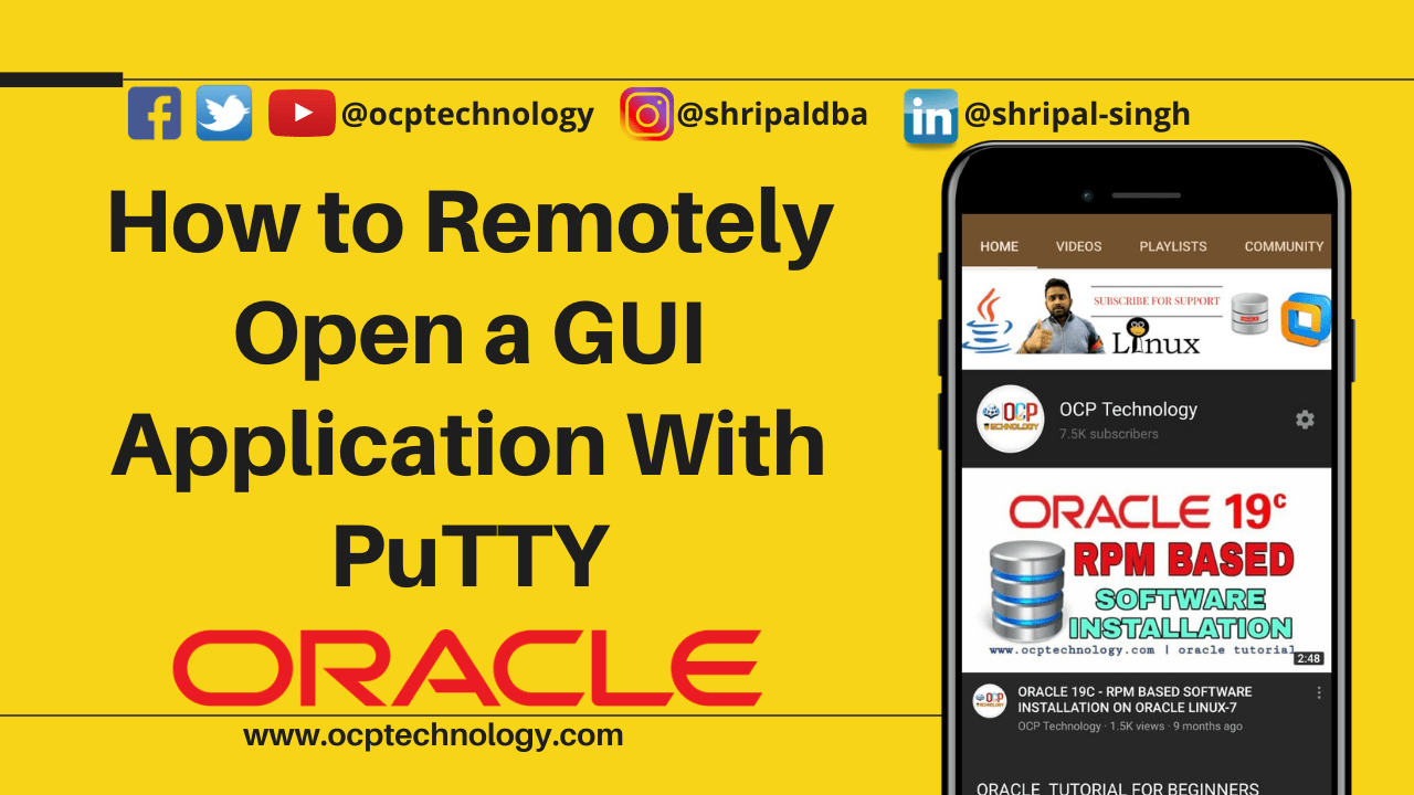 How to Remotely Open a GUI Application With PuTTY