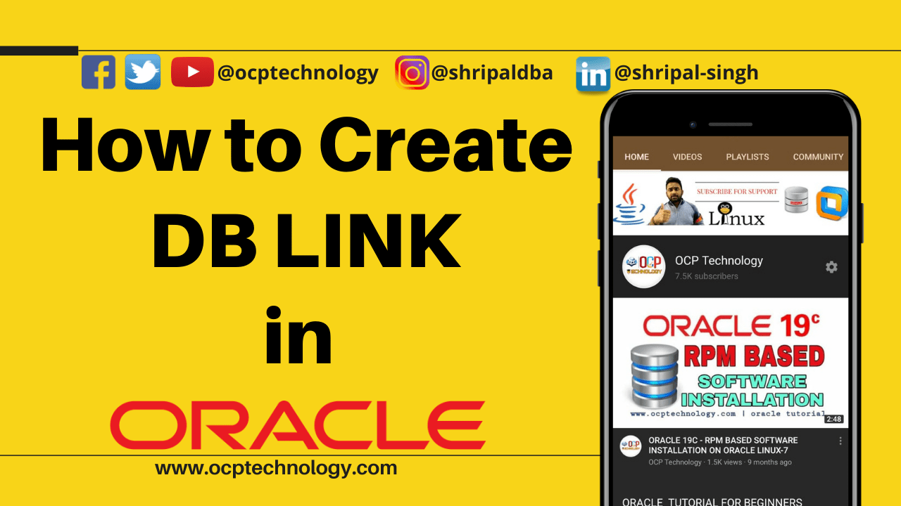 how to create db link
