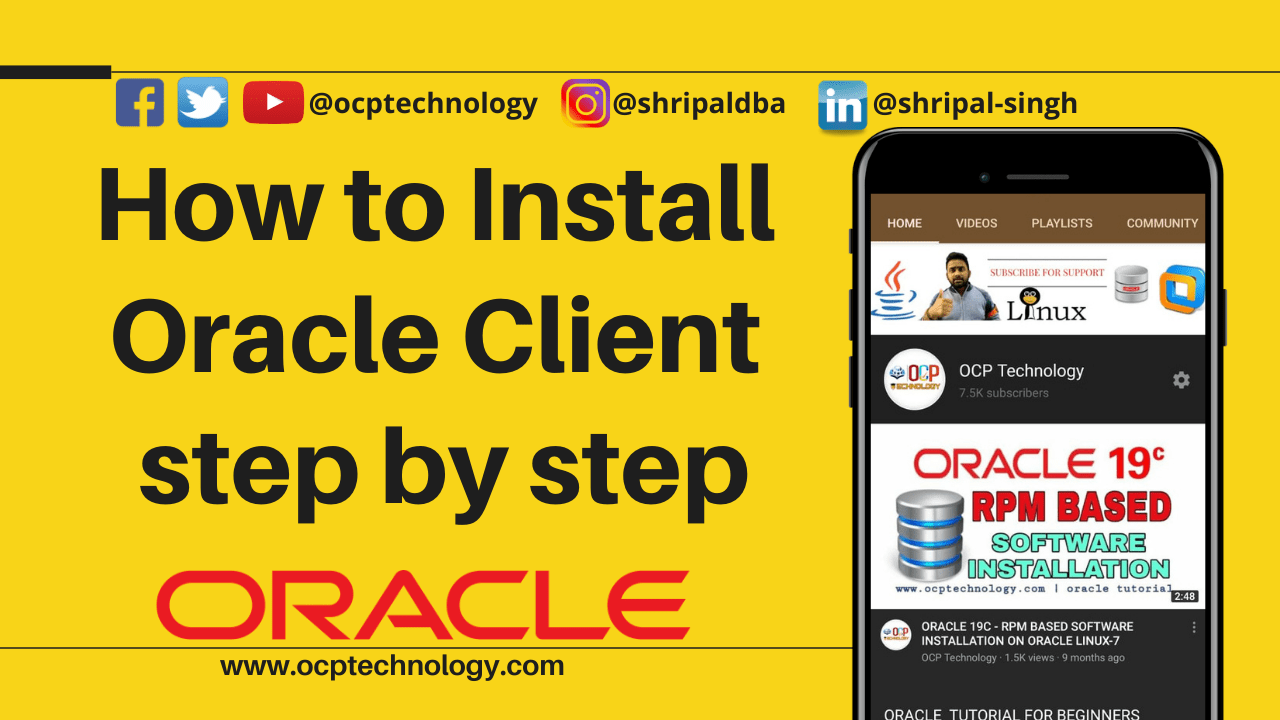 How to install Oracle Client step by step