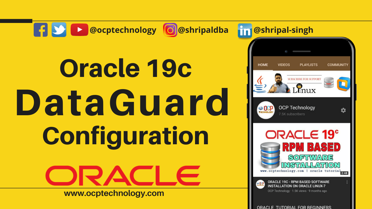 Oracle 19c Data Guard Configuration